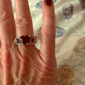 Jewelry - NWT Sz 6 Simulated Blue Sapphire angel Wings Ring